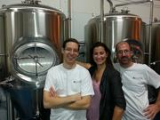 """Riverwalk Brewing Co. 3 Graf Road, Unit 15, Newburyport, MA 01950(978) 499-2337 / www.riverwalkbrewing.com/Owners (pictured left to right):Steve Sanderson, owner and brewer, Alyssa Kirk, sales manager and Christian Soucy, assistant brewer.Opened: May 2012Production: 350 barrels per yearInventory: IPA, Uncle Bob's Bitter, Gnomad (Farmhouse ale) and a number of seasonal beersDistribution: Self-distributed from the North Shore to BostonMiscellaneous: Brewer and owner Steve Sanderson was featured on the History Channel show """"History on Tap."""" He was part of the winning team of brewers on the show, which featured historical brewing practices and was shot on location in Plymouth, Mass., and at the Harpoon Brewery in Boston."""