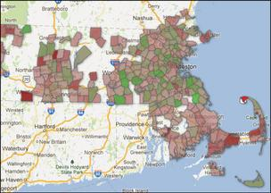 <br /><br /><br /> Scroll to the bottom of the page to access an interactive map reflecting Massachusetts school-district enrollment trends since 2001.</p><br /><br /> <p>