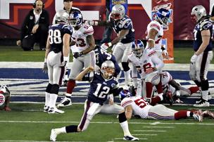 Tom Brady and New England Patriots at Super Bowl XLII