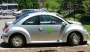 In June 2000, the first Zipcars hit the road around Boston. The company used unconventional rental-car models like Volkswagen's re-launched Beetle.
