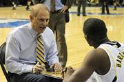 """Michigan's John Beilein (age 60)  Annual salary: $2.3 million  Miscellaneous: Before the tournament got underway, Forbes named Beilein one of the """"Most Overpaid College Basketball Coaches,"""" noting he had a 43-47 overall Big Ten record and that in seven previous tournament appearances Michigan had yet to reach the Final Four. Belein is just one win away now from earning a $150,000 bonus for winning the title."""