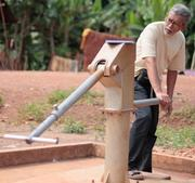 "Zimba	""saves lives by making 'last mile' water treatment cheap and easy with a simple device that automatically treats water at hand pumps."" From: India"