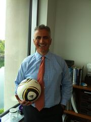 CFO Paul Clancy, who is in his 50s, is the only executive on the team. Clancy plays defense and even has a couple soccer balls in his office. He can be seen bouncing a soccer ball sometimes while on the phone.