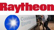 Largest company: Raytheon vs. Constellation Energy. Raytheon, a defense contractor, booked $25.2 billion in 2010 revenue. Constellation, a utility company, booked $14.3 billion. Advantage: Boston.