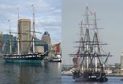 Tall ships: The USS Constellation vs. the USS Constitution. The 1,400 ton Constellation was the last sail-only warship built by the U.S. Navy. The 2,200 ton Constitution is the world's oldest commissioned warship afloat. Advantage: Boston.