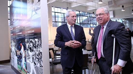 The 'Royal Rooters Club,' a private club for Red Sox season ticket holders, opens Friday at Fenway Park. Red Sox CEO Larry Lucchino gave Boston Mayor Thomas M. Menino a tour of the new facility, Monday.
