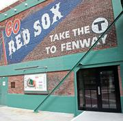 The Red Sox Royal Rooters Club's private entrance by Fenway Park's Gate B.