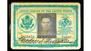 Armed forces ID card: Lot No. 60, Ted Williams' 1952 U.S. Armed Forces identification card. Estimated value: $2,000 to $4,000.
