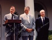 White House photo: Lot No. 113, autographed photo of Ted Williams, George Bush and Joe DiMaggio. Estimated value: $1,000 to $2,000.