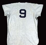 Red Sox road jersey: Lot No. 320, a professional model road jersey from the 1955 season including matching 1956 road pants as issued to Johnny Schmitz #21. Estimated value: $75,000 to $100,000.