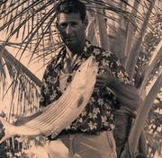 Fish photo: Lot No. 492, a photo of Ted Williams holding a similar bonefish to the trophy mount offered as part of the lot. Estimated value: $500 to $1,000.