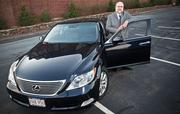 """Jim Moniz, President, Northeast Visionlink. Lexus LS. """"When a client bgets in my car I'm hoping that they feel very comfortable as part of the experience of doing business with me."""""""