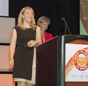 Bright Horizons Family Solutions ranked third in the large companies category. Lisa Samaraweera accepted the award.