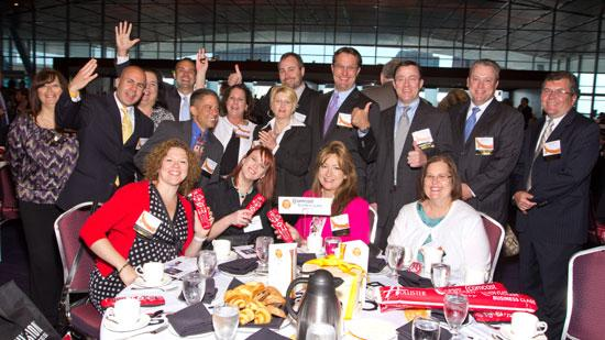 Comcast's contingent at the Best Places to Work breakfast.