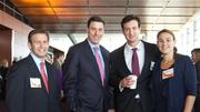 Cresa Boston's Matt Harvey, Paul Delaney, Brandon Leitner and Kari Forgione were at the BBJ Best Places to Work breakfast.