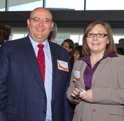 Jerry Gagne of Wolf & Co. and Katie Date of Hollister at the Boston Business Journal Best Places to Work breakfast.