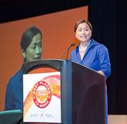 Sheila Marcelo of Care.com was one of three presenting partners at Best Places to Work.