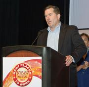 Daymark Solutions ranked fourth in the small companies category. Tim Donovan accepted the award.