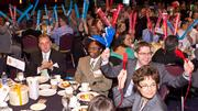 A noisy crowd at the Best Places to Work breakfast.