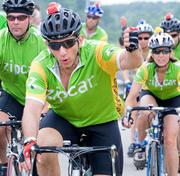 Scott Griffith, CEO of Zipcar. Funds raised to date: $10,015. Goal: $15,000 (fundraising page).This will be Griffith's fifth year riding in the PMC. He will lead 22 Team Zipcar cyclists on the road for a cure during the charity bike-a-thon. Zipcar, the world's largest car-sharing company, celebrates its third year as a sponsor of the PMC.