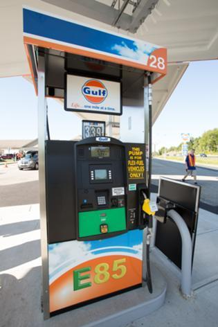 Gulf Oil has begun to roll out E85 pumps at some stations on the Mass. Pike.