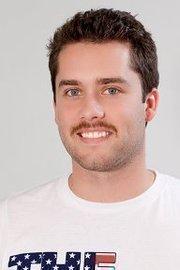 """Brightcove Online Video Consultant Kyle Zapcic participated in the company's Movember """"stache-off."""""""