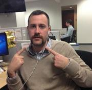 Acquia inside sales rep Jeff Hines was one of several at the fast-growing Boston software company to raise money for Movember.