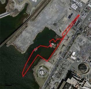The Everett casino site Wynn is eyeing is at least hemmed in by Boston land and roads, and possibly encompasses a sliver of Boston.