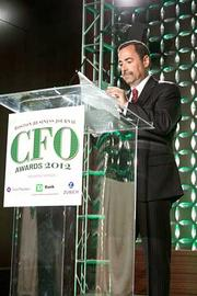Introducing the keynote speaker at the Boston Business Journal's CFO 2012 Awards was Scott Levy of Grant Thornton, a presenting partner of the event.