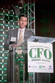 Joseph Surette of Zurich, a presenting partner at the Boston Business Journal's CFO 2012 Awards helped present the awards.