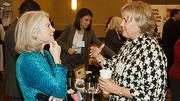 Lisa Arrowood of Arrowood Peters had the rapt attention of Beth Boland of Bingham McCutchen while networking at the Boston Business Journal's Top 100 Women-Led Businesses breakfast.