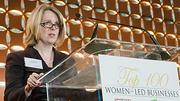 Ann Meade, Senior Vice President of Commercial Lending at Webster Bank, which was a Title Sponsor the Boston Business Journal's Top 100 Women-Led Businesses breakfast, introduced panel moderator Shirley Singleton, CEO and Co-Founder of Edgewater Technology.