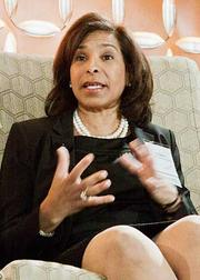 Inez Stewart, vice president of human resources at Children's Hospital Boston, was a panelist on a jobs creation discussion at the Boston Business Journal's Top 100 Women-Led Businesses breakfast.