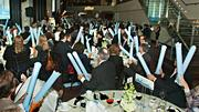 A bit primal - but fun - were the thunder sticks used to acknowledge the honorees at the Boston Business Journal's 15th 40 Under 40 event. Over 400 family, friends and co-workers attended the function held at the State Room.