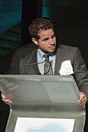 Carlos Febres-Mazzei, senior vice president at CBRE/New England, started things off by accepting his award at the Boston Business Journal's 15th 40 Under 40 event.