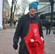 Gilbert Taylor, Faneuil Hall, Boston Central Hispanic Experience: 4 years What he likes about bell ringing: People watching at Faneuil Hall