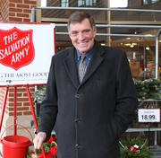 Jim Hennigan, Roche Bros., West Roxbury, Boston Kroc Community Center  Experience: 11 years How he got involved: Jim owns Hennigan Insurance Company in West Roxbury. For years, he saw Corps Sergeant Major Edward Gooding ring the bell in the cold at Roche Bros. and was inspired to start an all-volunteer effort. For 2012, he anticipates 150 different volunteers will ring bells at the kettle for 400 hours altogether.