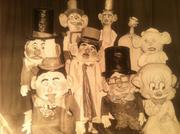 These puppets appeared in 1941 in the Land of Childhood Make-Believe at Jordan Marsh's Santason Parade.