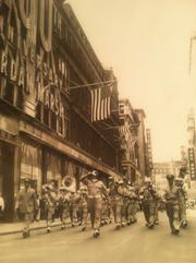 "The ""Salute to America'"" week program on Jordan Marsh's 100th anniversary, in 1951, featured a military parade down Washington Street."