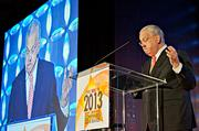 """The keynote speaker at the Boston Business Journal's 2013 Most Admired Companies, CEOs & Brands luncheon was Boston Mayor Thomas Menino who started his speech by saying, """"My legs may not be working yet, but my mind is. So watch out!"""""""