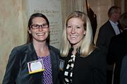Tracie Gilman and Molly Hanson of Bernstein on the scene at the Boston Business Journal's Best Places to Work event.