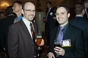 Aternity's Yaniv Grinvald and Lior Mayer seen at the Boston Business Journal's Best Places to Work event.