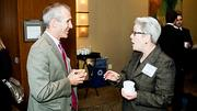 Former neighbors Joseph Kriesberg of MACDC and Kathleen Carney of Discovering Justice catch up with each other at the Boston Business Journal 2012 Corporate Citizenship Summit held at the Westin Waterfront.