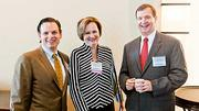 This trio represented Coldwell Banker Residential Brokerage at the Boston Business Journal 2012 Corporate Citizenship Summit. From left: Todd Lamothe, honoree Patricia Villani and Bill McIntyre.