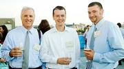 David Keyo of G.T. Reilly & Company (center) was flanked by Berkeley Building Company's Emil Frei (left) and Patrick Kelly at the Boston Business Journal's 2012 End of Summer Party, held at the Revere Hotel.