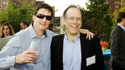 The Boston Business Journal's research director Joe Halpern (left) met up with an old friend, Tench Forbes of Tench Forbes Marketing, at the Boston Business Journal's 2012 End of Summer Party.