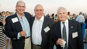 Seen enjoying the evening at the Boston Business Journal's 2012 End of Summer Party were, from left: Doug Rainville of Neptune Advisors, Peter Schablik of the Reznick Group and Grant Thornton's Al Faber.