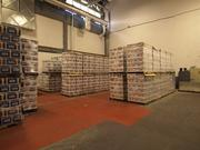 Harpoon's new canning equipment hasn't come yet, so this space is being used as part of its warehouse.