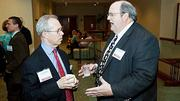 UMass Medical School was well represented Networking at the Boston Business Journal's  2012 Champions in Health Care event by David Polakoff, MD (left) and Terry Dougherty.