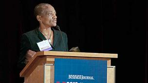 Thea James, Boston Medical Center, photographed at the BBJ Champions in Health Care